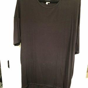 LuLaRoe Tops - Black Ribbed High Low Shirt (LuLa Roe)